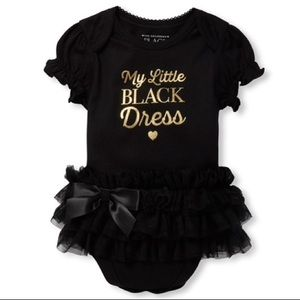 🖤 My Little Black Dress Tutu Graphic Bodysuit